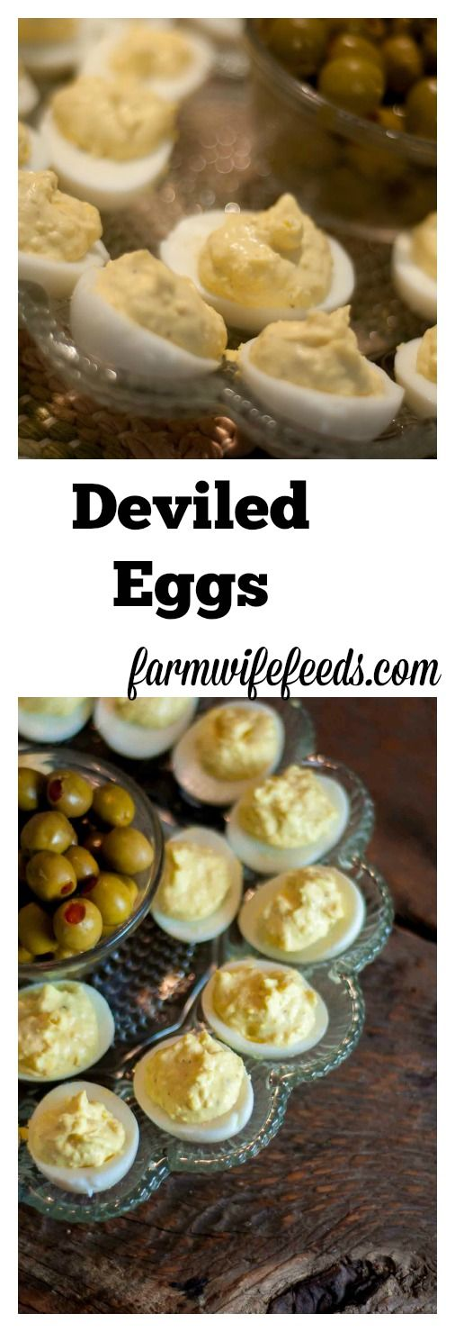 Deviled Eggs With A Kick is the recipe we use, it has a slight kick that comes from a touch of prepared horseradish.