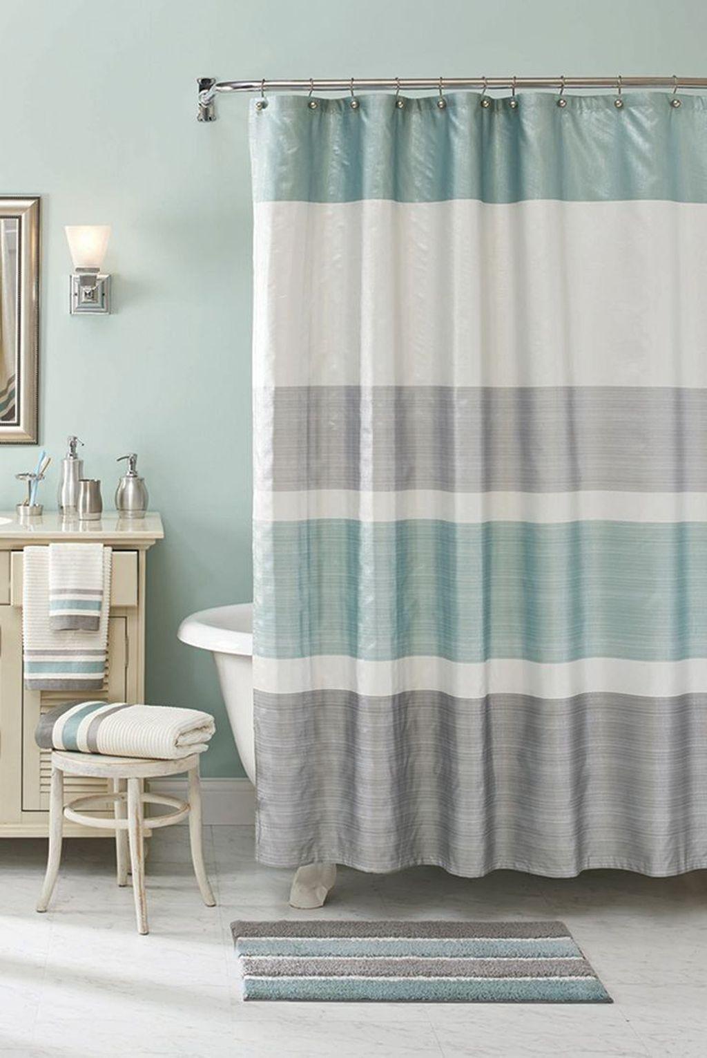 Cool 39 Stylish Coastal Nautical Bathroom Designs Ideas Bathroomshower Beach Shower Curtains Nautical Bathroom Decor Beach Bathroom Decor