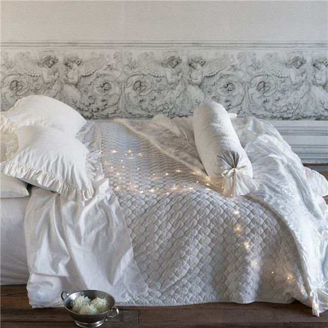 Beautiful background too- Bella Notte Coverlet Cotton Velvet Quilted