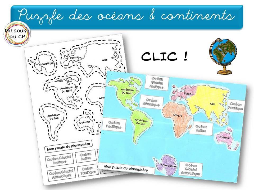 Apprendre Les Continents Et Les Oceans De Facon Interactive Avec