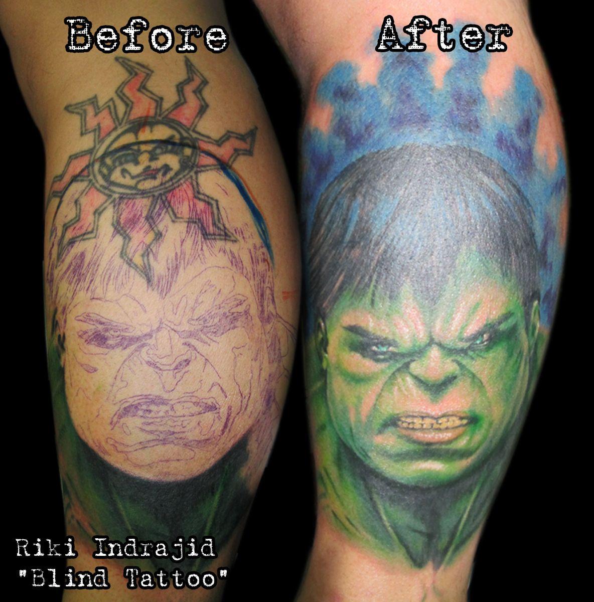 """Hulk tattoo, portrait tattoo, colour tattoo, cover up tattoo   By Riki Indrajid """"Blind Tattoo"""" Surabaya-Indonesia,Tlpn :+6281944886620/+6282227773828,Pin BB:2A991C1B,@riki_blind,riki.chelenk@gmail.com http://facebook.com/riki.indrajid16-http://rikiindrajid.tumblr.com"""