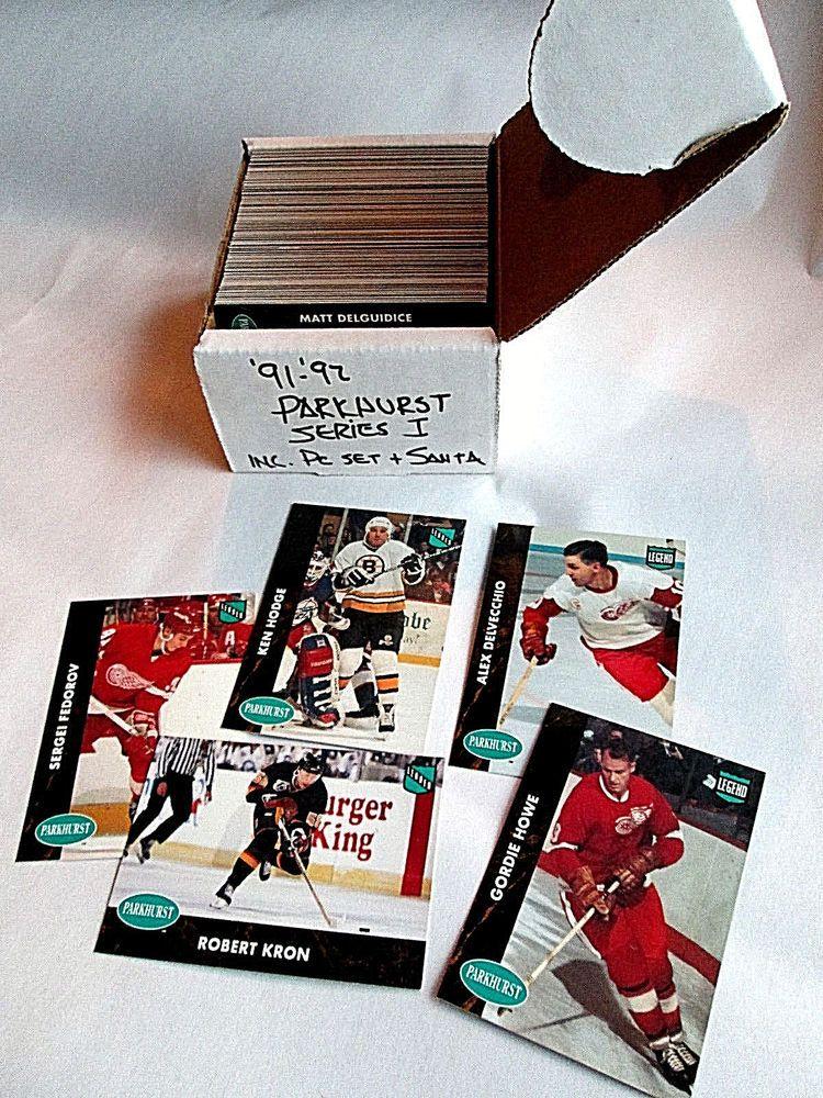 Complete 19911992 parkhurst series 1 nhl hockey cards