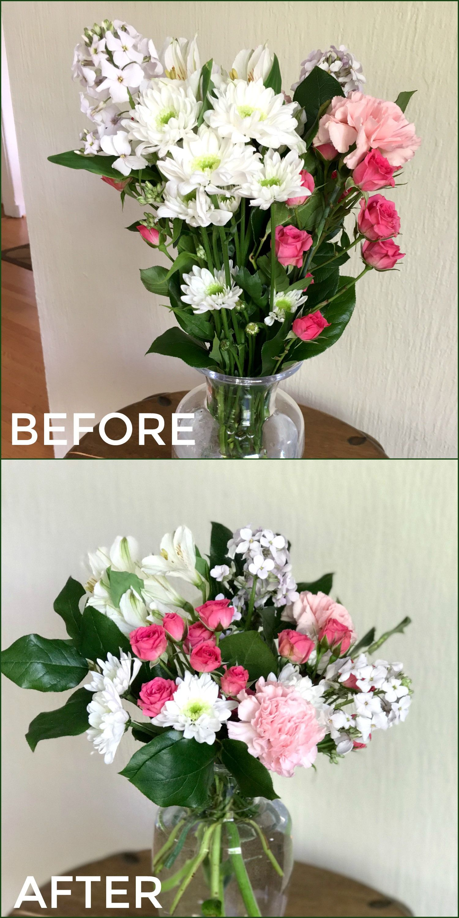 How To Transform a Grocery Store Bouquet into a Floral