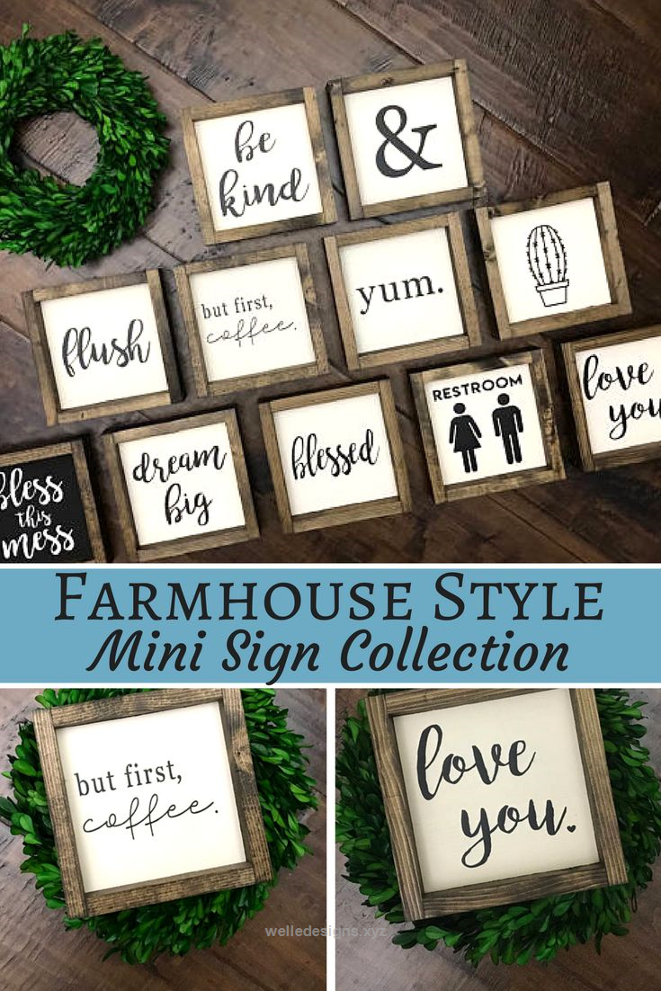 Vintage wood Signs Farmhouse Style Vintage wood signs