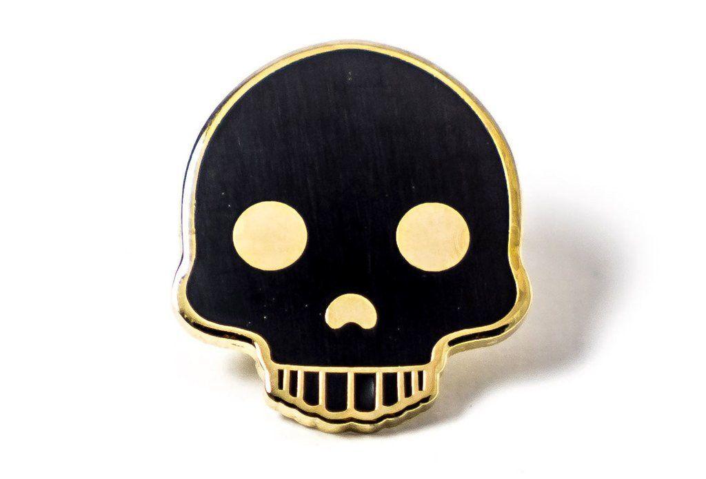 Skull Emoji Pin Skull Pin Skull Gold Skull