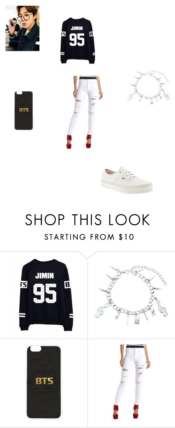 """""""Hanging out with Jimin"""" by shania-dancequeen2k17 on Polyvore featuring Charlotte Russe and Vans"""