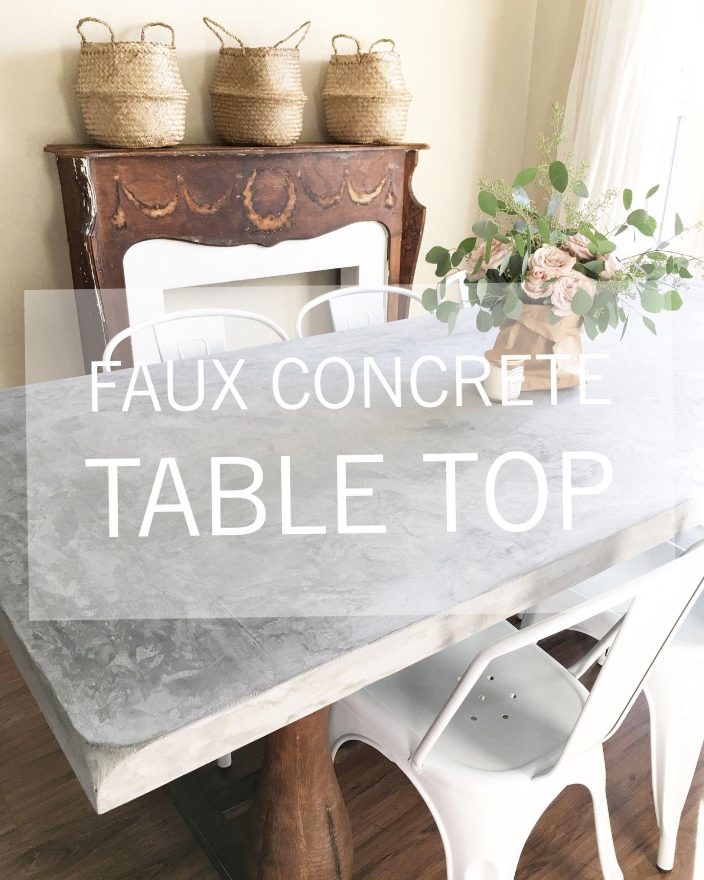 Faux Concrete Table Top Using Marrakech Paint Pure Original Deeply Distressed Blog Concrete Table Top Concrete Top Dining Table Concrete Table