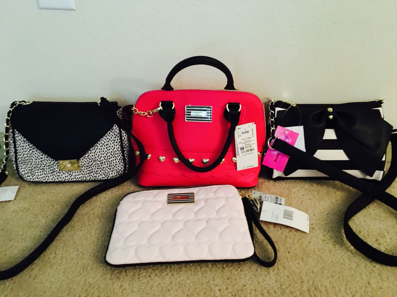 New Betsey Johnson Bags At Ross And Burlington