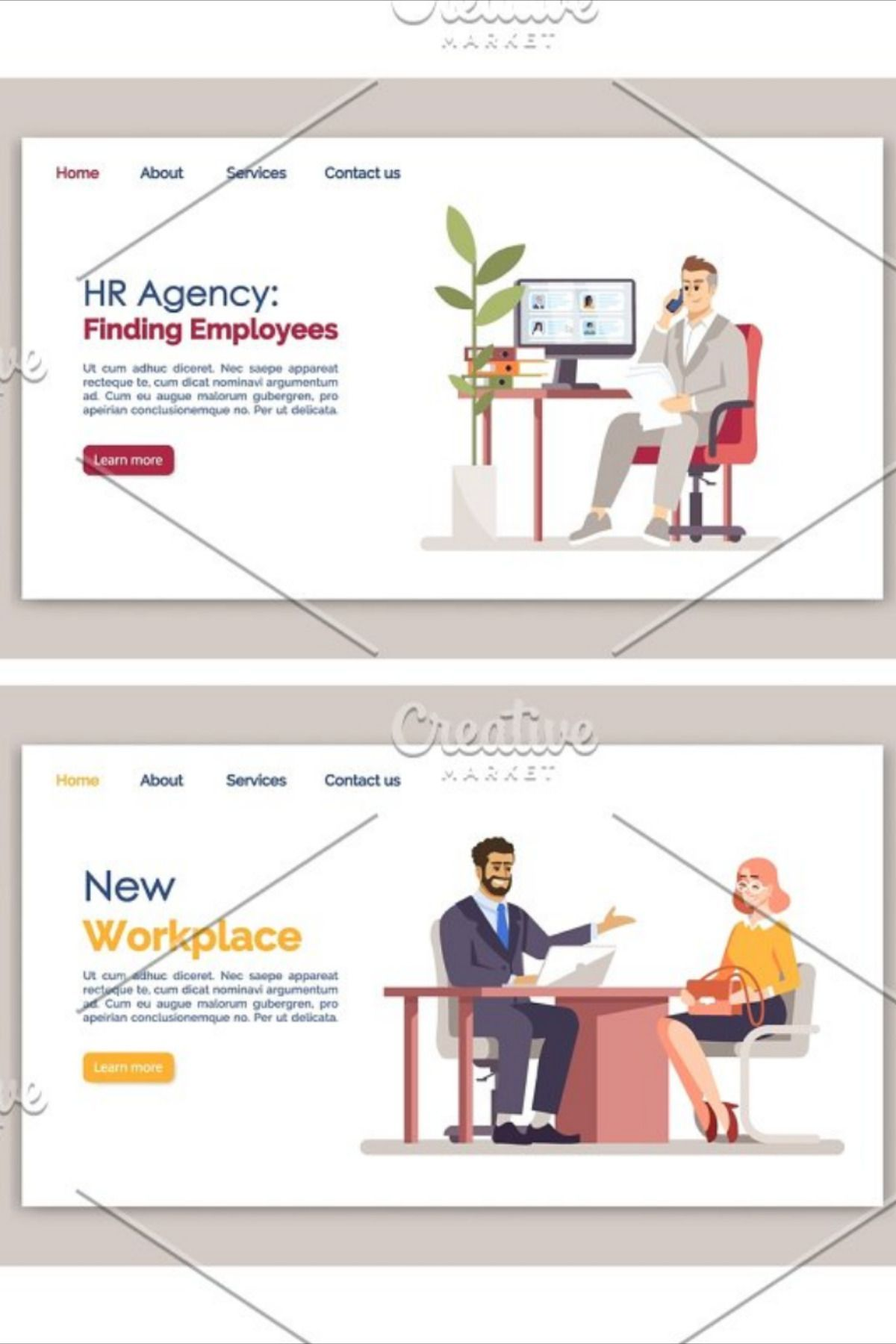 What A Good Banner Designer Can Do For You When You Are Having Problem For Designing A Super In 2020 Recruitment Website Design Website Template Design Landing Page
