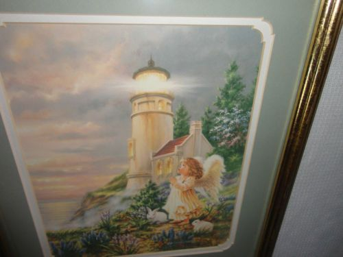 Home Interiors 039 Angel By Lighthouse Picture Gorgeous 14 X 16