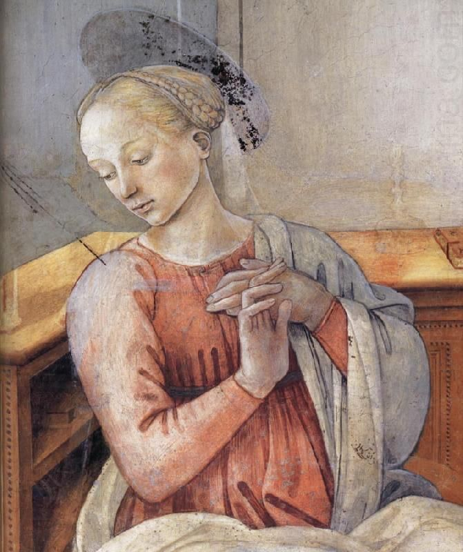 Fra Filippo Lippi, Annunciation detail - between 1467 and 1469 Medium fresco Current location Spoleto Cathedral