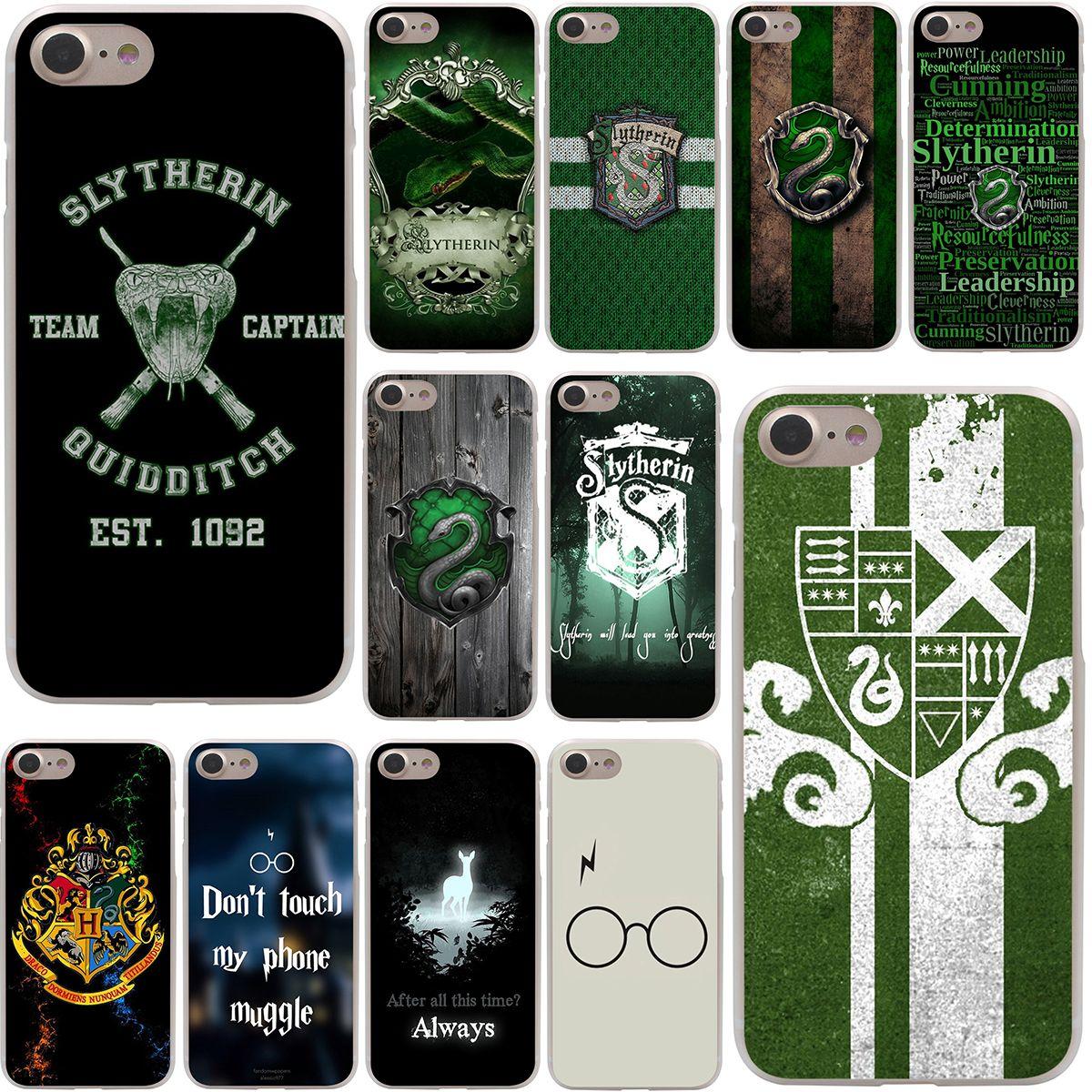 size 40 6b0a7 bd05e Harry Potter Slytherin School Crest Hard Case Transparent for iPhone ...