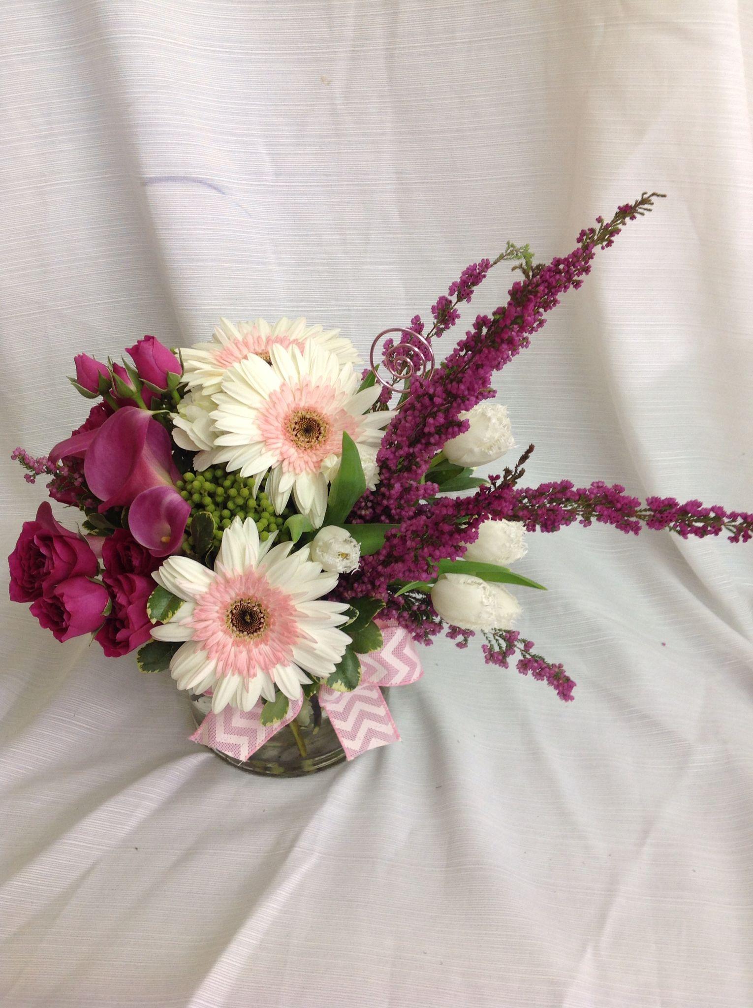 Lovely Flower Arrangement Made With Pinkgerberdaisies