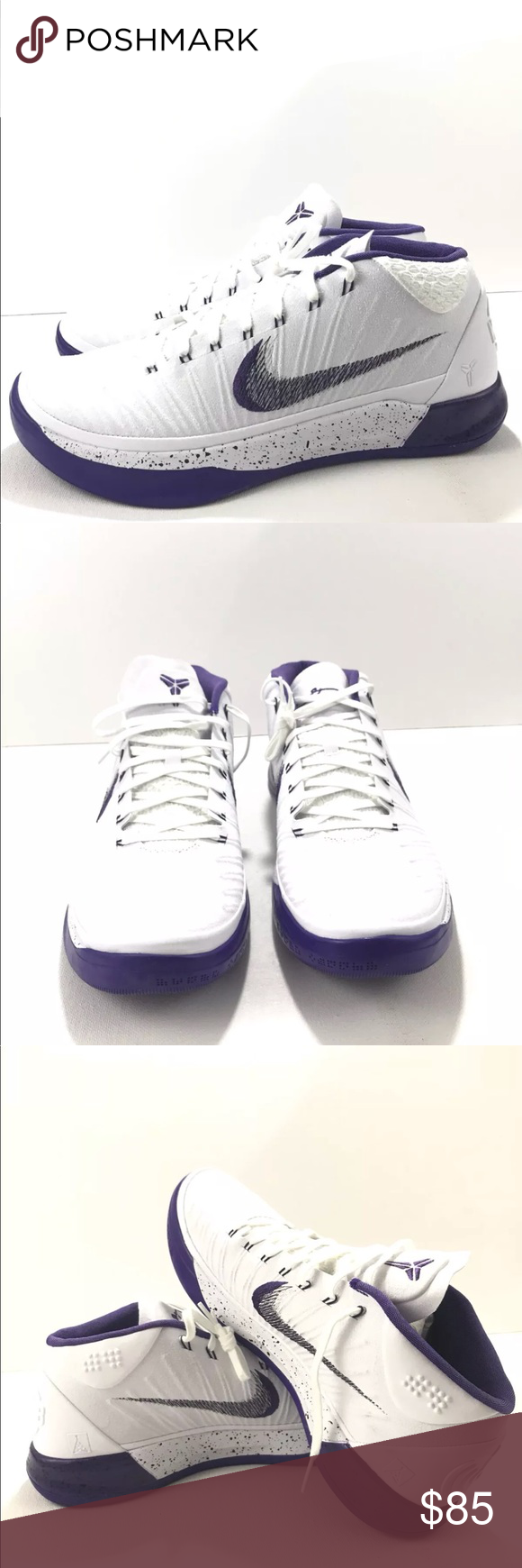 innovative design ac623 94c89 Nike KOBE A.D Mid Basketball Baseline White Purple BRAND  Nike MODEL  Nike  Kobe A.D