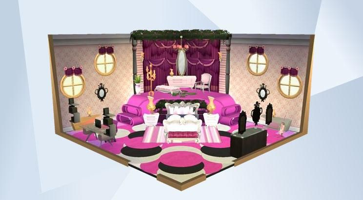 Check out this room in The Sims 4 Gallery! | Pink bedrooms and Sims