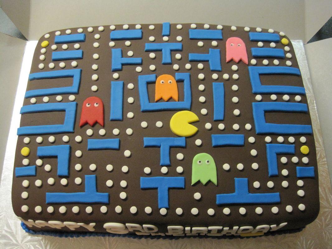Pac Man Birthday Cake Amazing Cakes Pinterest Men Birthday
