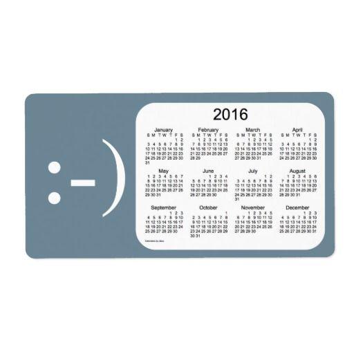 2016 Slate Calendar by Janz Label Shipping Label Wonderful - shipping label