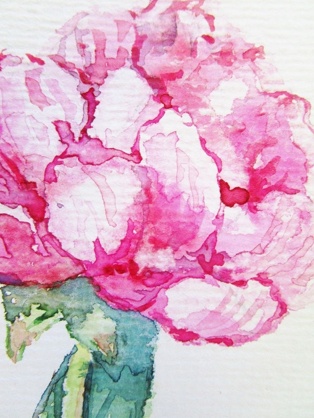 Aquarelle Fleur Carte Art Carte Postale Aquarelle Tableau