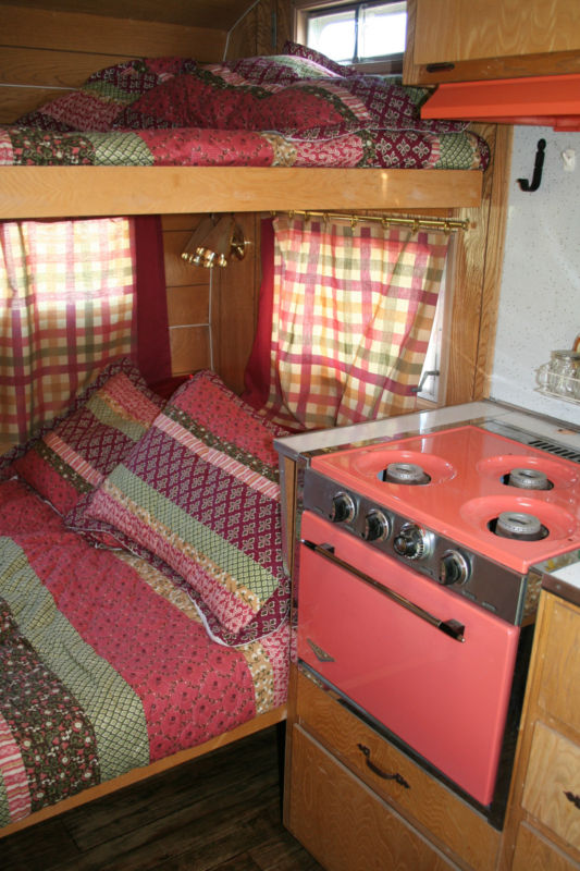 Vintage 1967 Red Dale Travel Trailer 14'