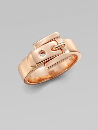 "Rose gold ""belt buckle"" ring Adorable and unique"