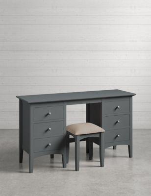 Best Hastings Dark Grey Dressing Table Stool Set Dressing 400 x 300
