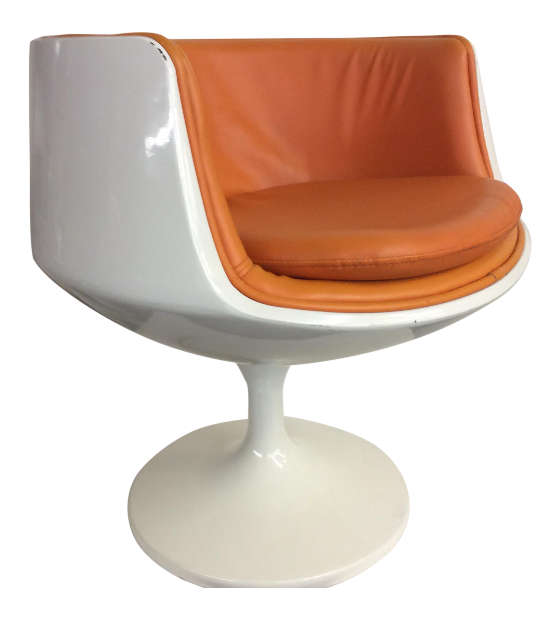 Egg Chair Cognac.Final Markdown Late 20th Century Eero Aarnio Finland Orange