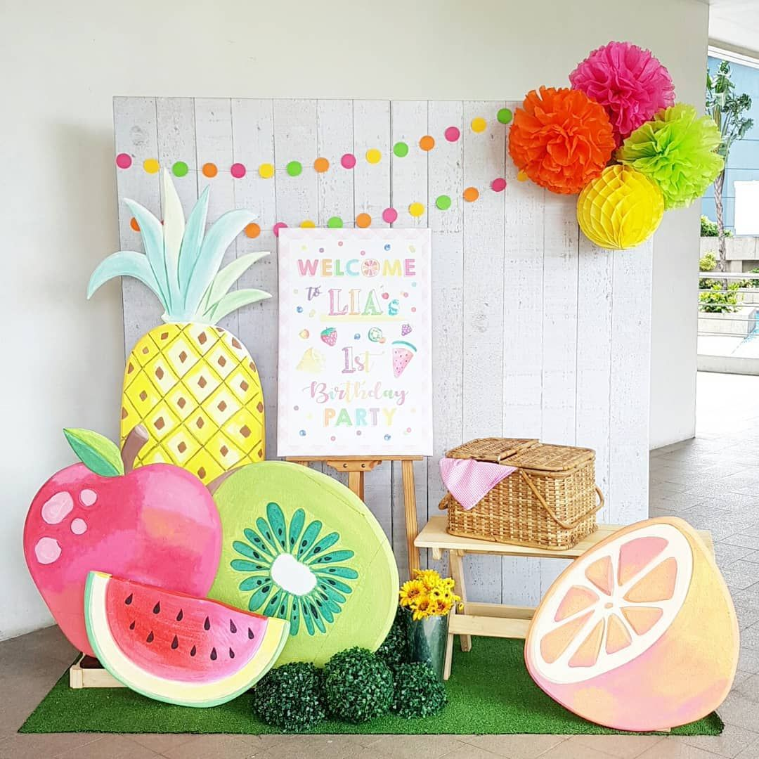"Kids Party Hub on Instagram: ""Lia Turns One Tutti Fruity #eventstylingph #kiddiepartyph #kidspartyhub"""