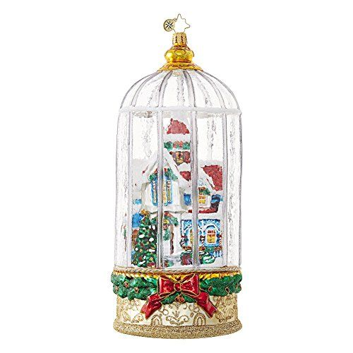 Christopher Radko Snowy Victorian Cage Cottage Limited Edition Christmas  Ornament - Christopher Radko Snowy Victorian Cage Cottage Limited Edition
