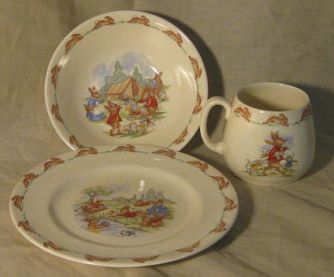 Bunnykins Dishes ~ Beatrix Potter were and still are the best gift a mother to be & Bunnykins Dishes ~ Beatrix Potter were and still are the best gift a ...