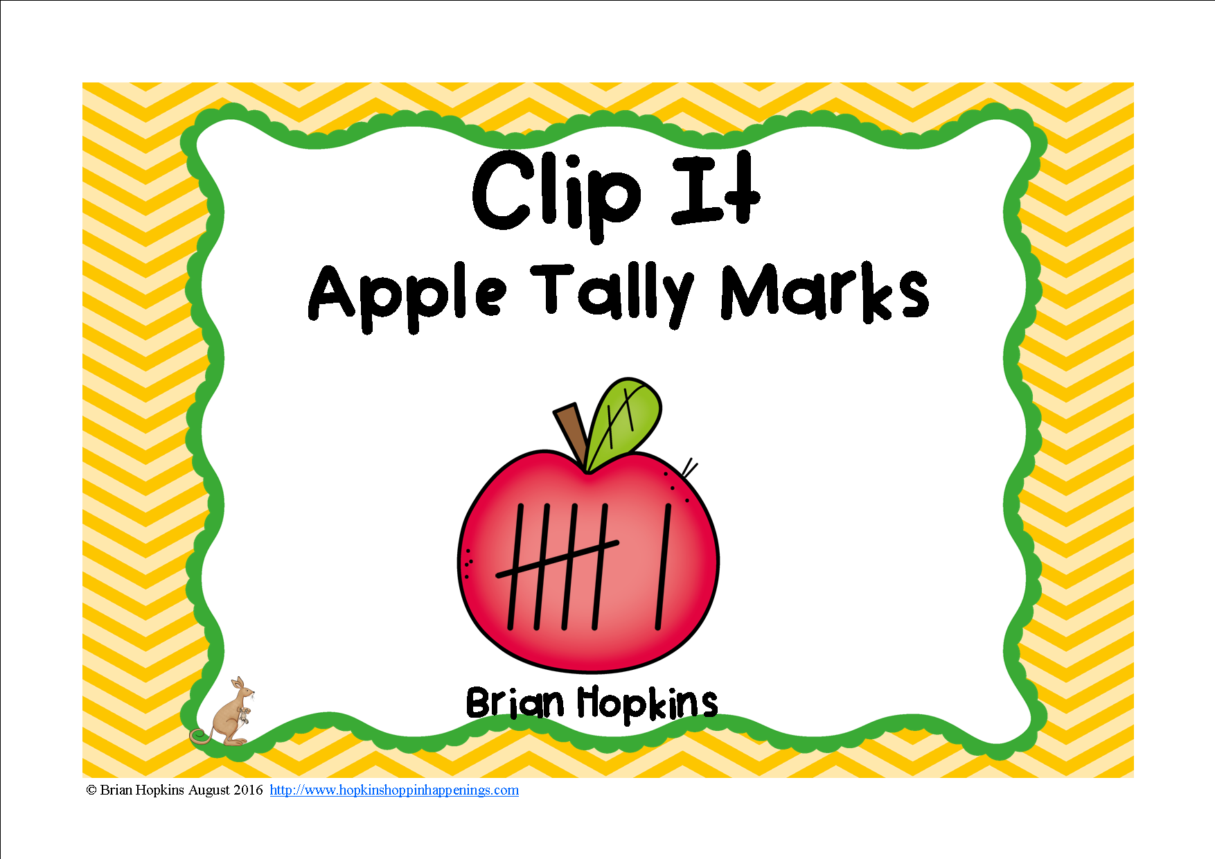 Clip It Apple Tally Marks
