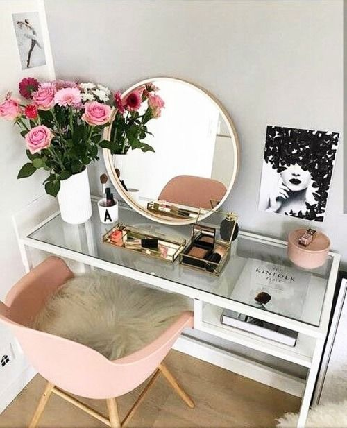 Pinterest Blushedcreation Dressingtable Girls Ladies Beauty Bloggers Makeup Decor Diy Vanity Mirror Interior Stylish Bedroom A popular and well priced ultra modern dressing table that comes via pinterest.co.uk. pinterest