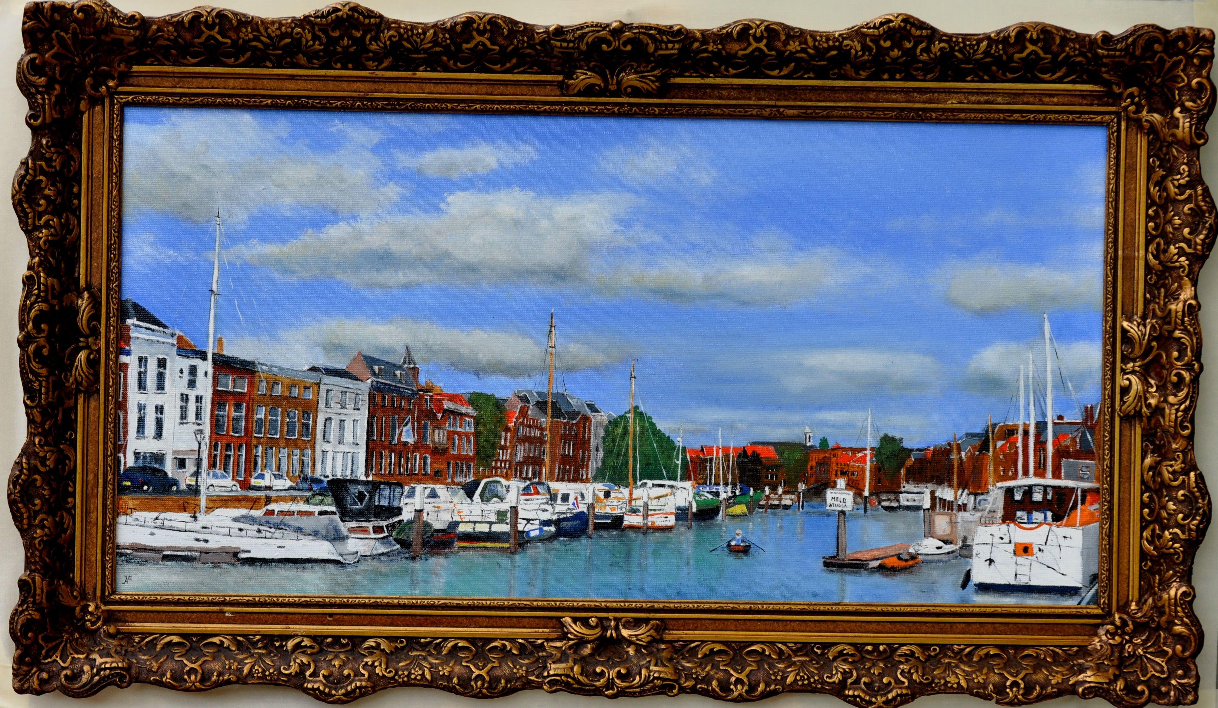 Nieuwehaven Dordrecht (olieverf op linnen 80 x 40 cm) https://www.facebook.com/Jan.Asmus.Painter