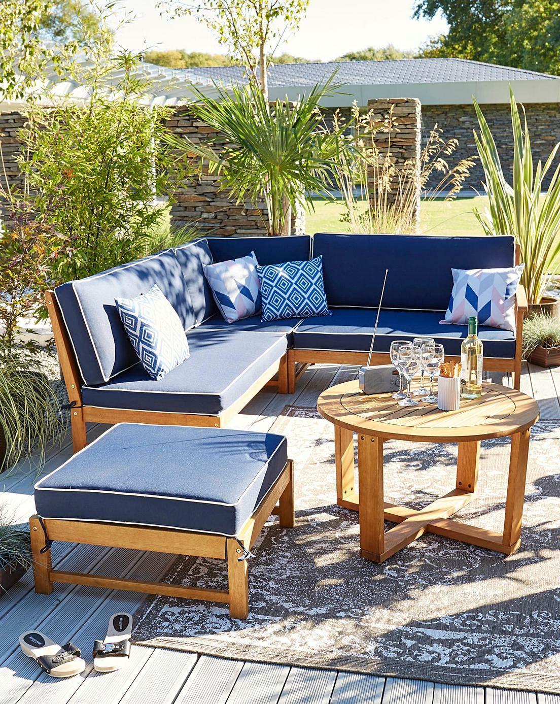Buy Collection 5 Seater Aluminium Corner Sofa Set Garden Table And Chair Sets Argos Corner Sofa Set Wooden Garden Furniture Corner Sofa Garden