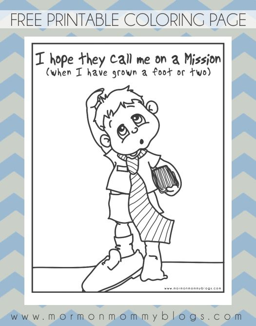 Call Me on a Mission Coloring Page | Mormon Mommy Printables ...