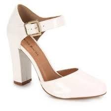 ba990fed9 Resultado de imagem para sapato de noiva com salto grosso | sapatos ...