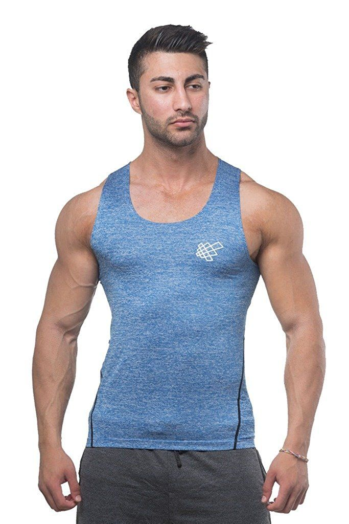 6c31f64a17875 Jed North Mens Bodybuilding Compression Tank Top Slim Fitted Workout Base  Layer Shirt
