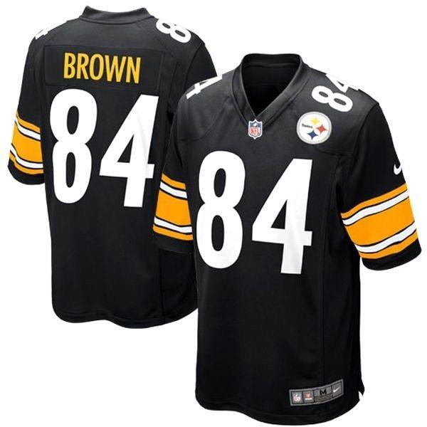 wholesale dealer 3c6aa 6be24 Antonio Brown Pittsburgh Steelers Game Jersey - Black - XXL ...