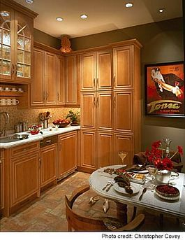 Olive Green Kitchen Cabinets kitchen paint color - counter/white; walls/olive green; backspash