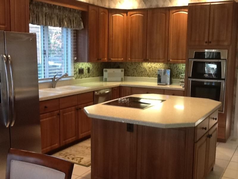 Great Light Italian Walnut Cabinet Refacing From Granite Transformations Of St.  Louis