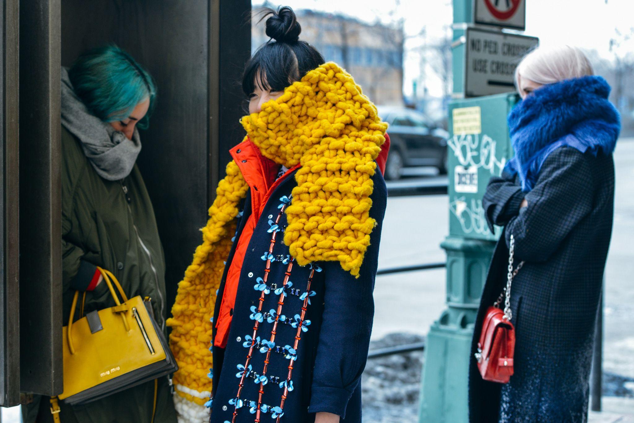Knit-on-knit STREET STYLE 2015 - Buscar con Google
