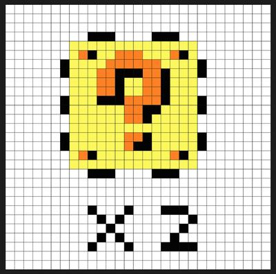 Super Mario Item Block Coin Bank Sprites Kit Perler Bead Project Pixel Art Shop Perler Beads Perler Super Mario