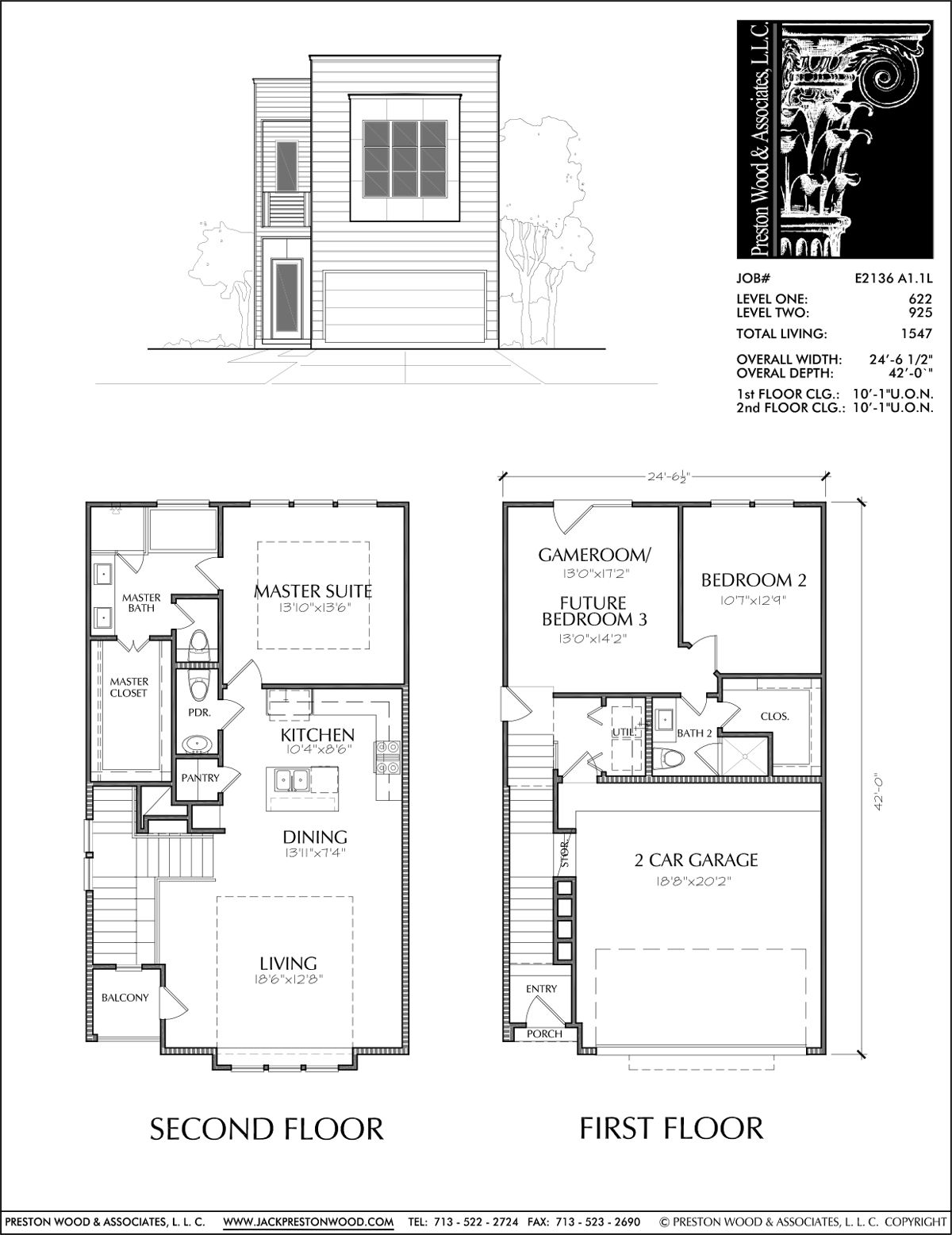 Townhome Plan E2136 A1 1 House Floor Plans Apartment Floor Plans Town House Floor Plan