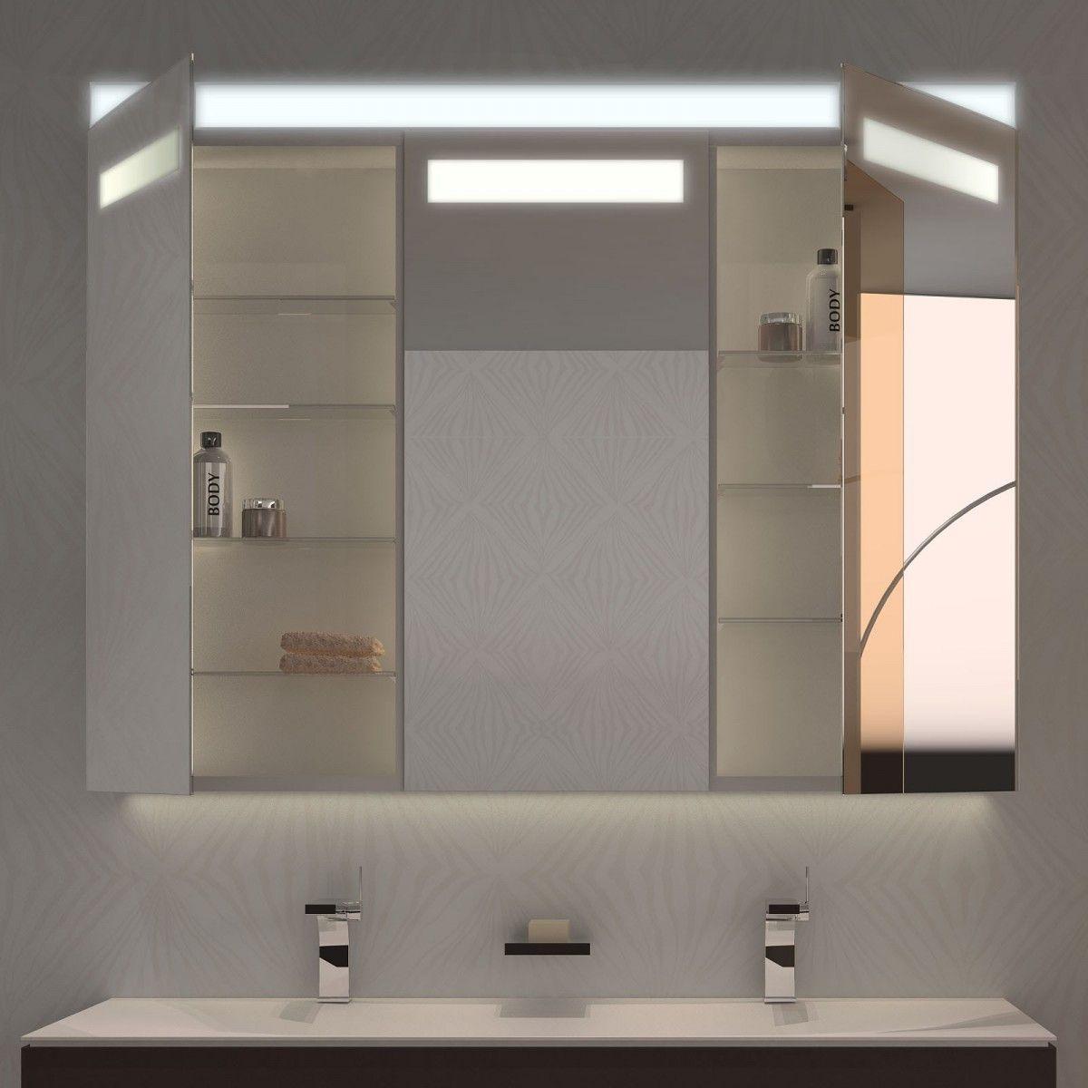 Spiegelschrank mit Beleuchtung Lixo Jetzt bestellen unter: https ... | {Spiegelschränke bad 71}
