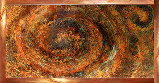 Wall Art   Copper Swirl