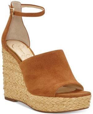 8360d6c1bb4 Jessica Simpson Suella Espadrille Wedge Sandals - Brown 9.5M ...