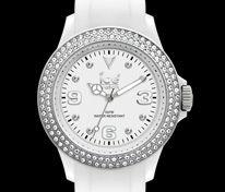 White with Swarovski crystals | Ice watch, Watches jewelry, Silver ...