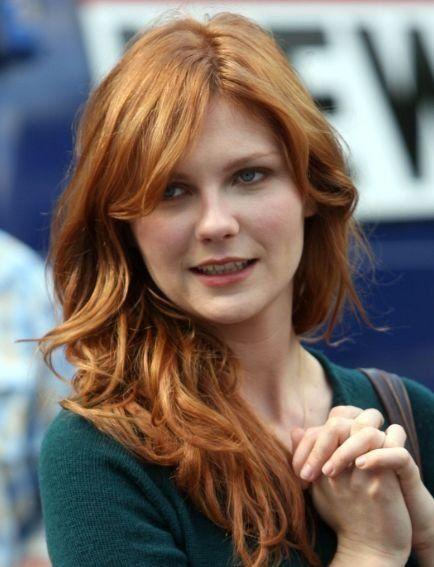Really Beautiful Red Hair Kirsten Dunst Golden Red Hair Black Hair Ombre Natural Dark Hair
