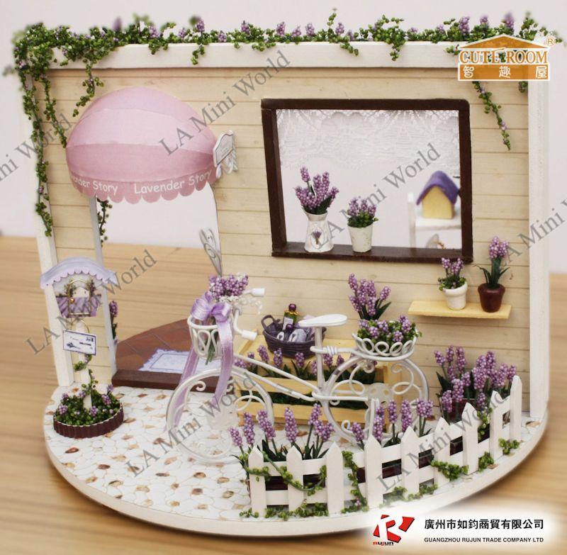Diy Miniature Of Beautiful Lavender Garden On 360 Turn Table W