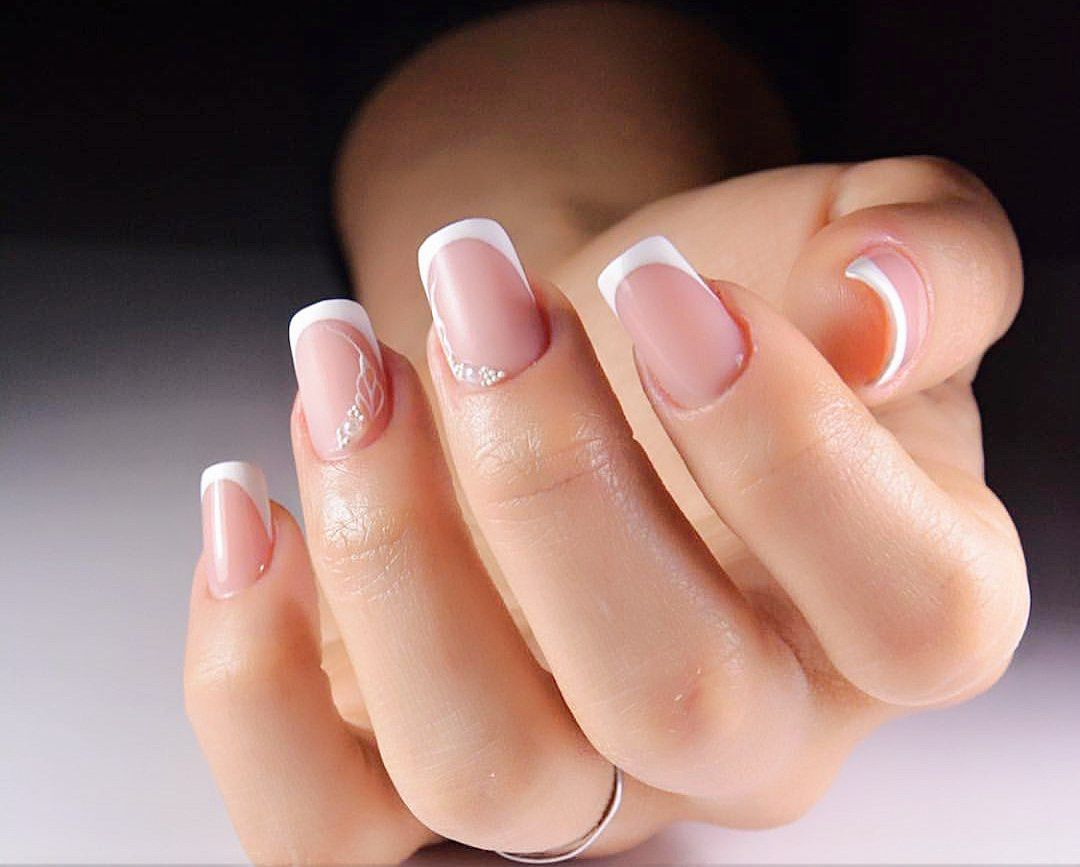 french tip nail designs for short nails - Nail Shapes 2018: New Trends And Designs Of Different Nail Shapes