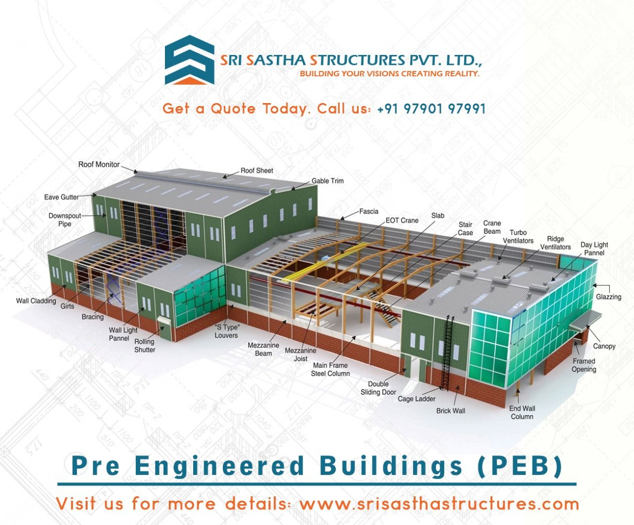Peb Building In Coimbatore In 2020 Pre Engineered Buildings Cool Roof Pre Engineered Steel Buildings